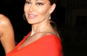Ceca Ražnatović u crvenoj haljini