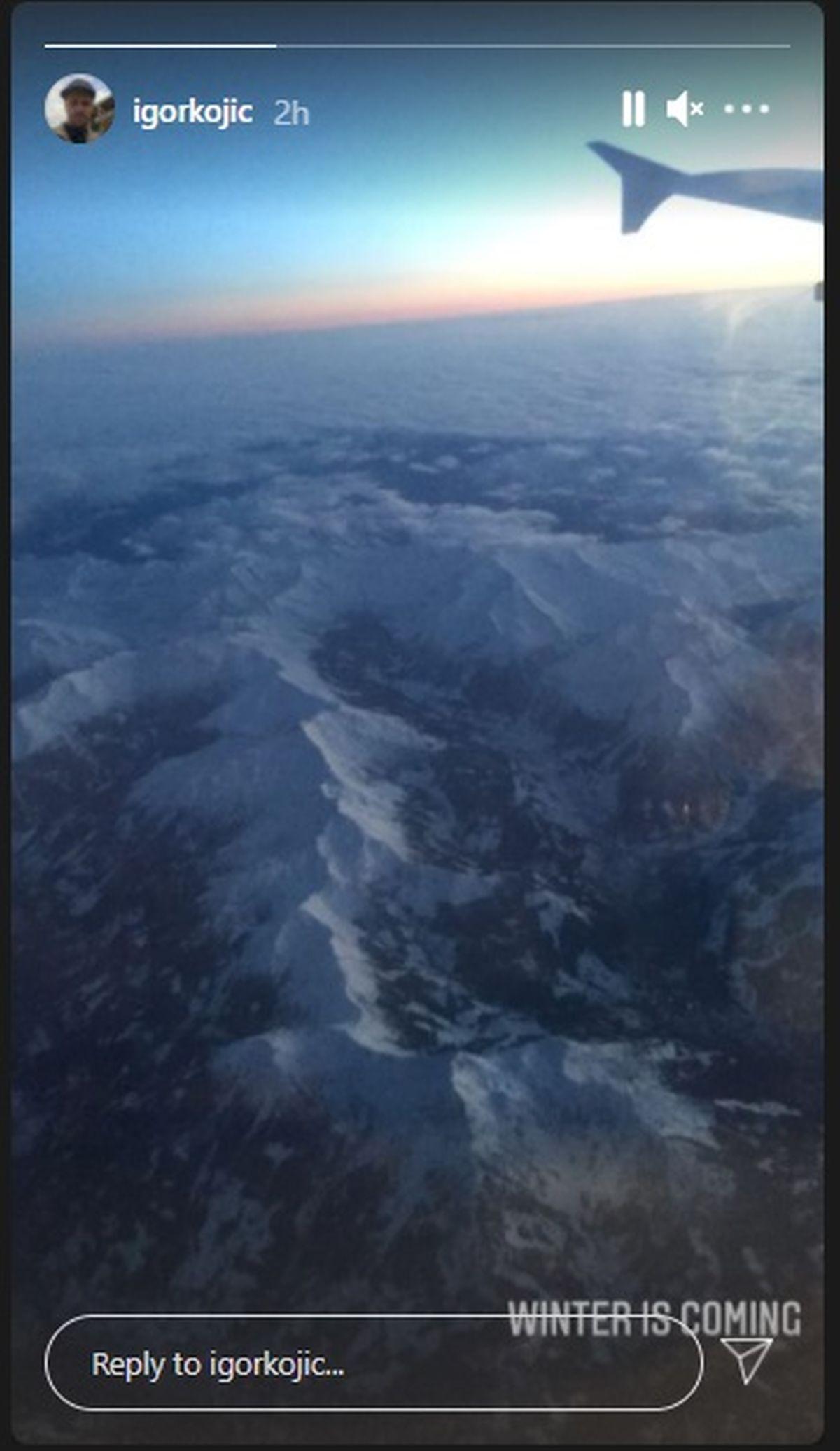 Igor Kojić snimak iz aviona