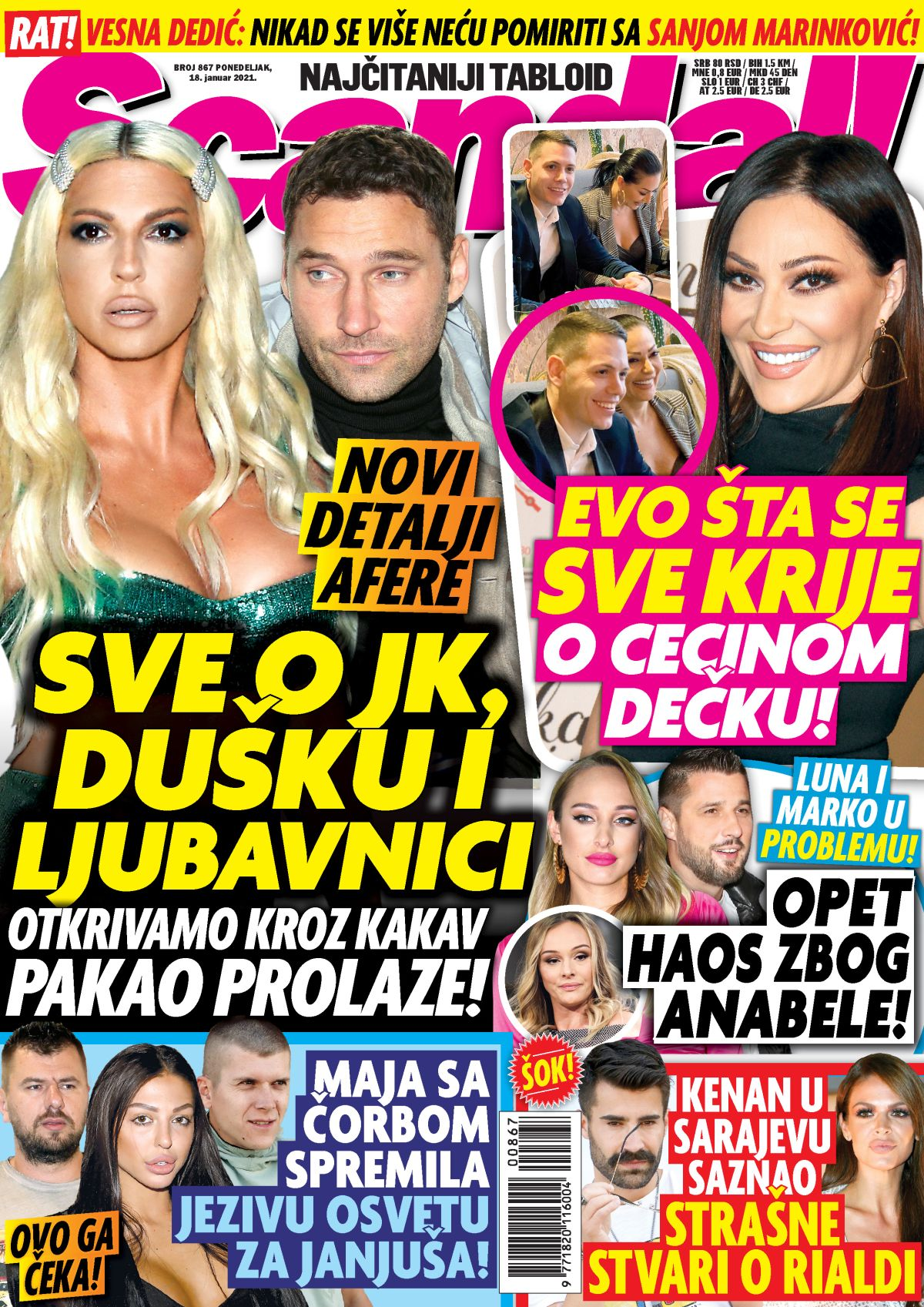 Naslovna Scandal 17 januar