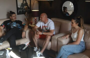 Valentina Kuzmanović, Isak Šabanović, Aleksandar Milić Mili
